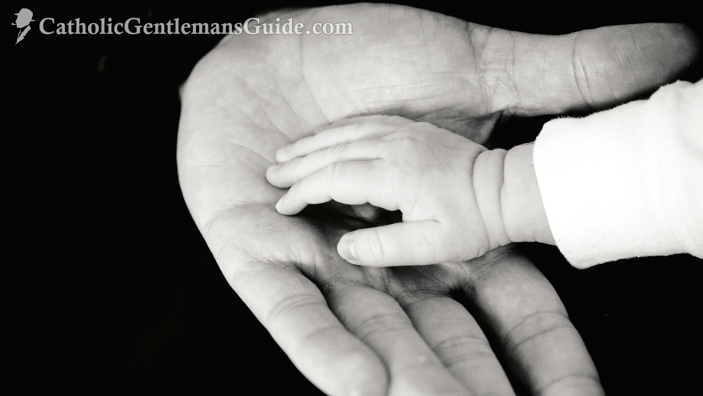 Dad Baby Hands